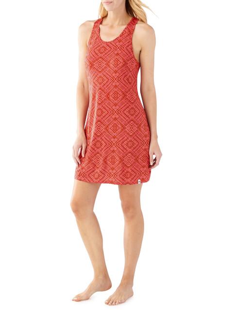 Smartwool W's Basic Merino 150 Pattern Dress Bright Coral